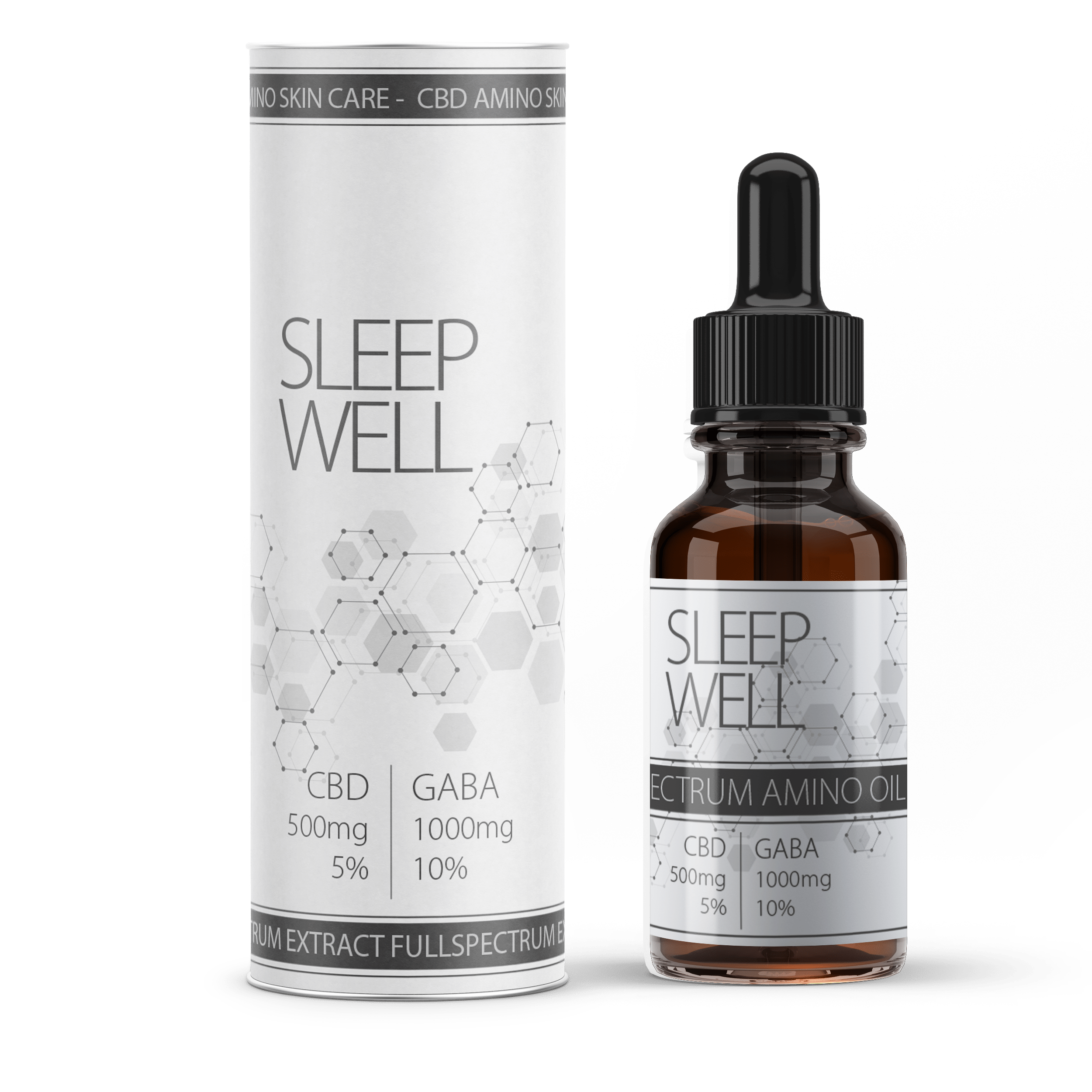 "CBD Vollspektrum Öl Amino Booster ""Sleep Well"" 5% - Hanfsamen Öl"